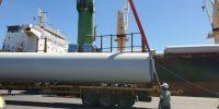 Transport éoliennes dans le pacific